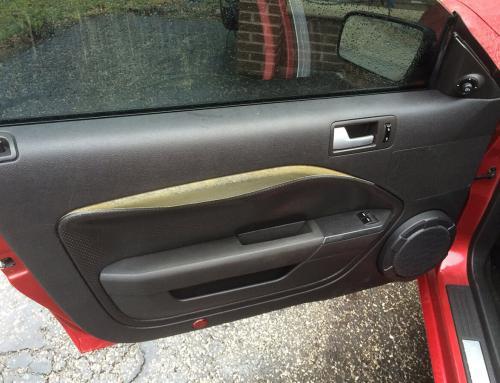 Restoration of a Damaged Mustang Door