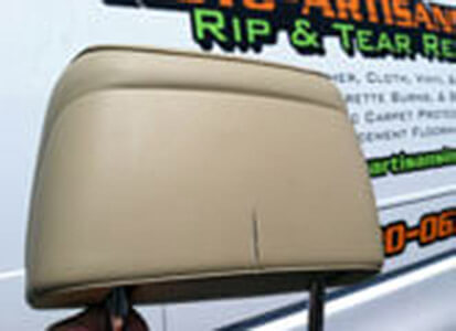 Auto Artisans Inc - Before and After - Head Rest Box Cutter Incident - Before 1