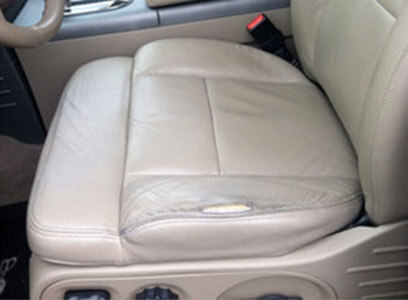Auto Artisans Inc - Before and After - Large Leather Wear and Split - Before