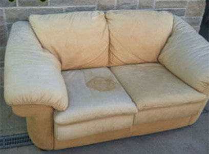Auto Artisans Inc - Before and After - Sun Faded with a Touch of Urine Furniture - Before 1