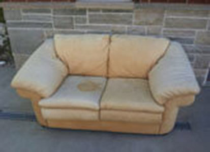 Auto Artisans Inc - Before and After - Sun Faded with a Touch of Urine Furniture - Before 2