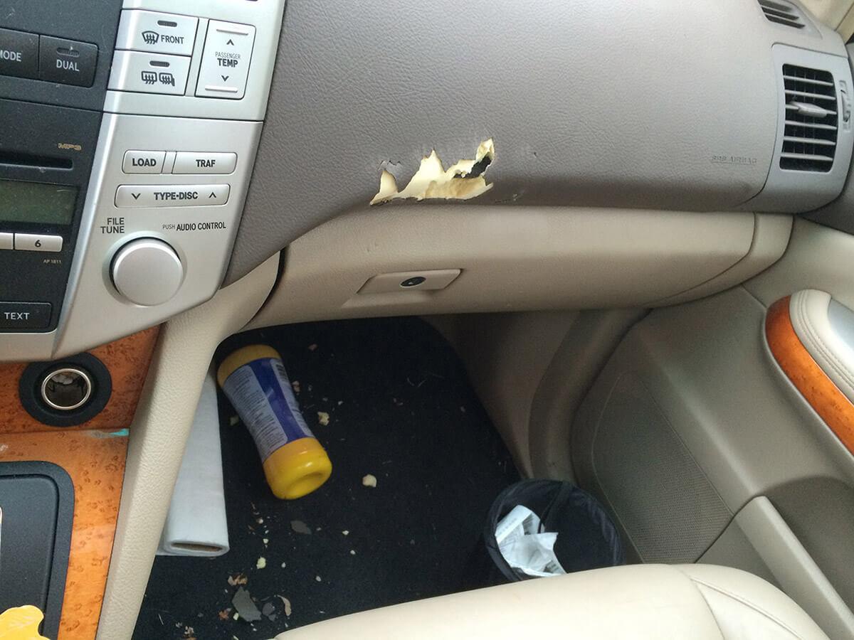 Auto Artisans Inc. - Interior Repair Dashboard Before