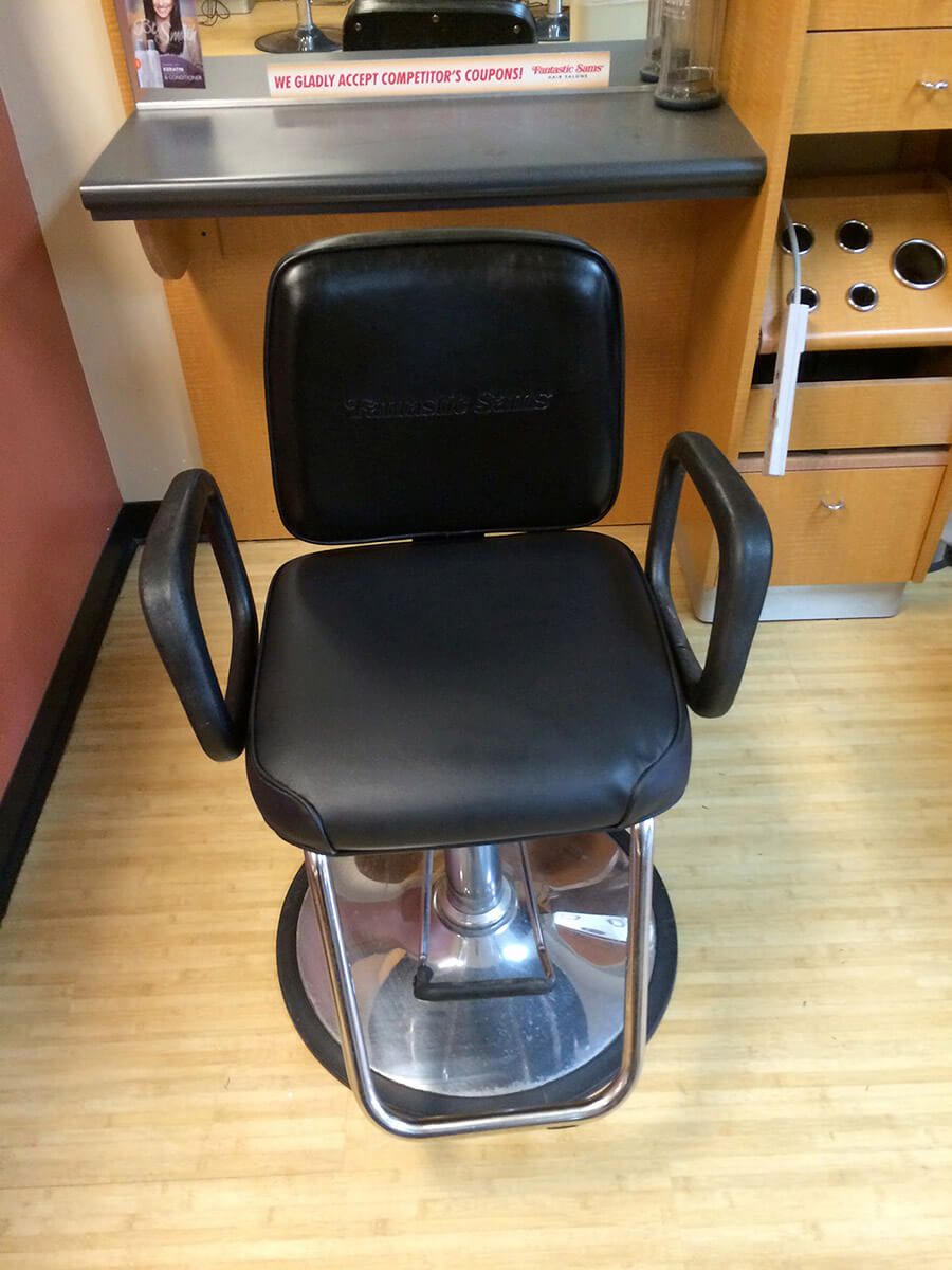Auto Artisans Inc. - Leather Furniture Repair - Barber Chair After 1