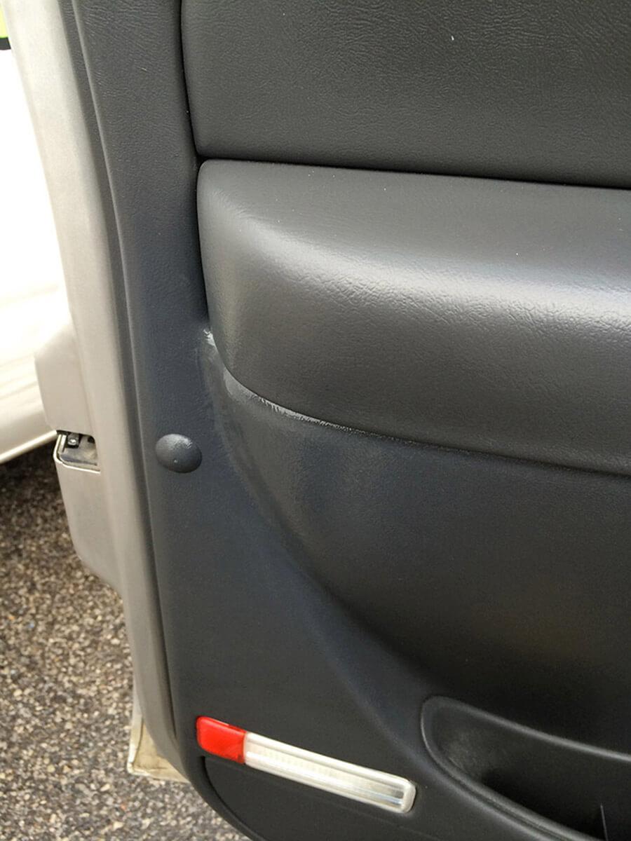Auto Artisans Inc. - Seatbelt Damage After