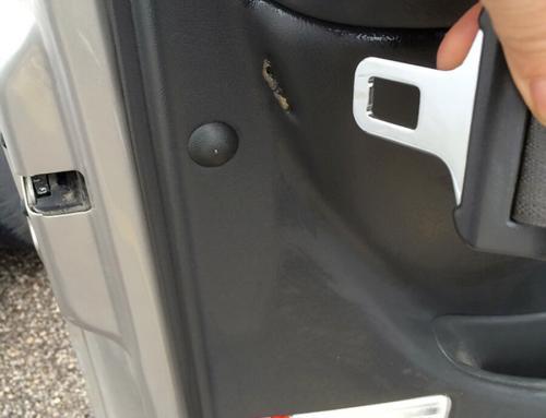 Car Door Seatbelt Damage Repair